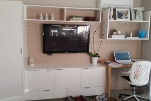 tv cabinet with desk