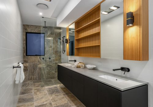 Bathroom renovations with wood
