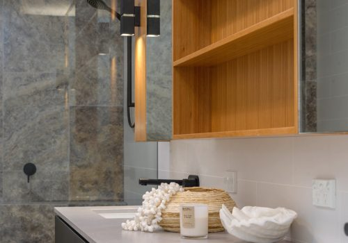 bathroom cabinets with wood